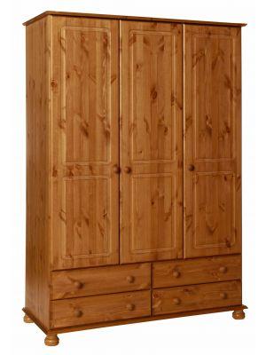 Copenhagen Pine 3 Door 4 Drawer Robe