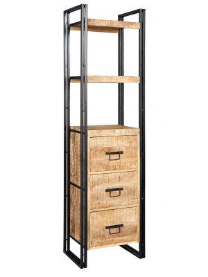 Cosmo Industrial Slim Bookcase