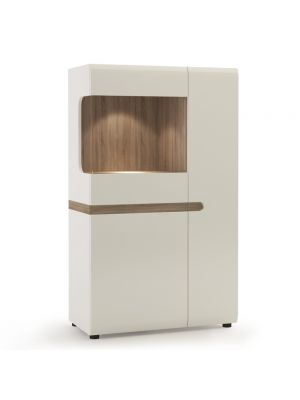 Chelsea White Gloss Low Display Cabinet
