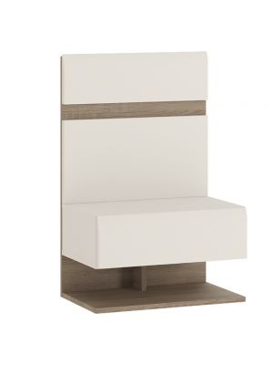 Chelsea White Gloss Bedside Extension