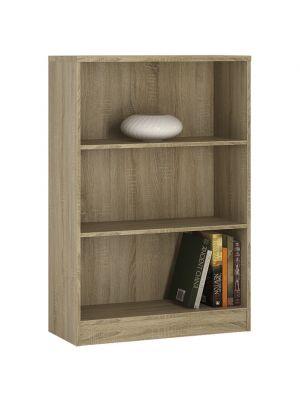 4 You Sonama Oak Medium Wide Bookcase