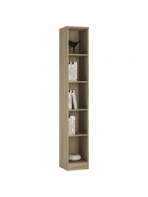 4 You Sonama Oak Tall Narrow Bookcase