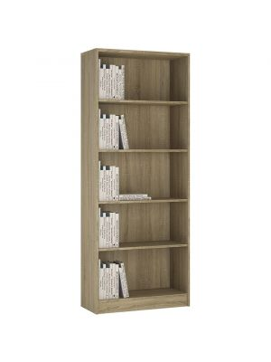 4 You Sonama Oak Tall Wide Bookcase