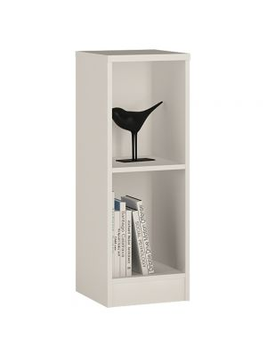 4 You Pearl White Low Narrow Bookcase