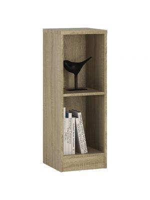 4 You Sonama Oak Low Narrow Bookcase