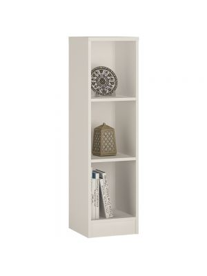 4 You Pearl White Medium Narrow Bookcase