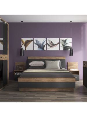 Monaco Super King Size Bed With Mattress, Monaco Queen Bed Frame