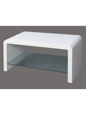 Atlantis Clarus High Gloss White Coffee Table