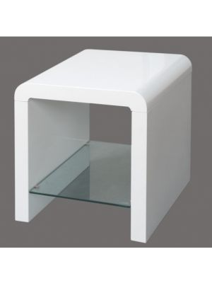 Atlantis Clarus High Gloss White Lamp Table