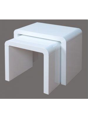 Atlantis Clarus High Gloss White Nest of Tables