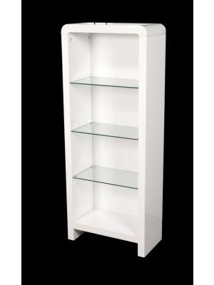 Atlantis Clarus High Gloss White Bookcase