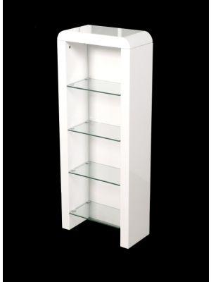 Atlantis Clarus High Gloss White DVD Storage Unit