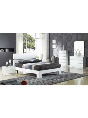 Arden Plaza White King Size Bed