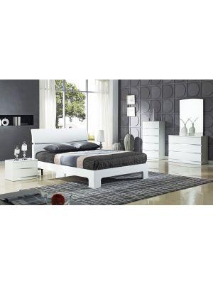 Arden Plaza White Bedside Cabinet