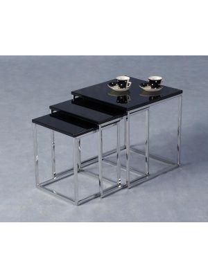 Charisma Black Nest of Tables