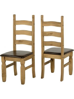 Corona Dining Chairs with Seat Pads (Pair)