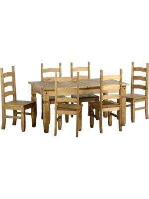 Corona 6 Seater Extending Dining Set