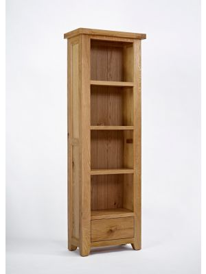 Devon Oak Narrow Bookcase