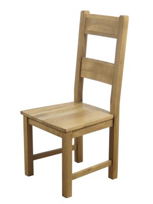 Hampshire Dining Chairs with Solid Seat (Pair)