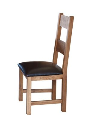 Hampshire Dining Chairs with Padded Seat (Pair)