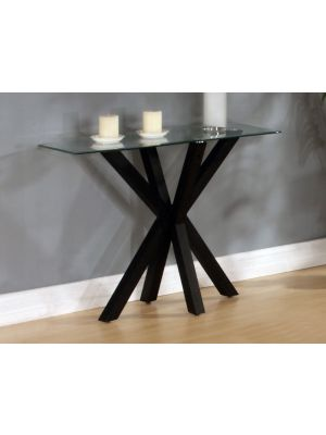 Langley High Gloss Black Console Table