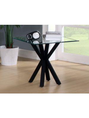 Langley High Gloss Black Lamp Table