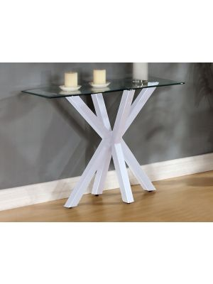 Langley High Gloss White Console Table