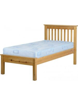 Monaco Antique Pine Single Bed with Low Foot End