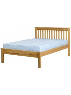 Monaco Antique Pine Double Bed with Low Foot End