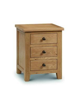 Marlborough 3 Drawer Bedside Cabinet