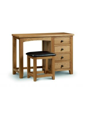 Marlborough Single Pedestal Dressing Table with Stool