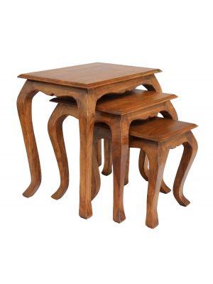 Marseille Acacia Nest of Tables Table