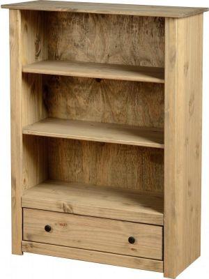 Panama Pine 1 Drawer Bookcase