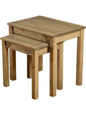 Panama Pine Nest of Tables