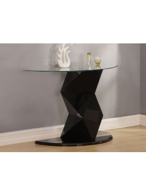 Rowley High Gloss Black Console Table