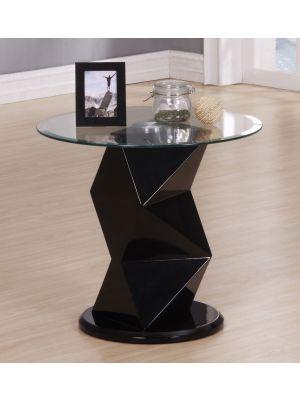 Rowley High Gloss Black Lamp Table