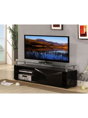 Rowley High Gloss Black TV Stand