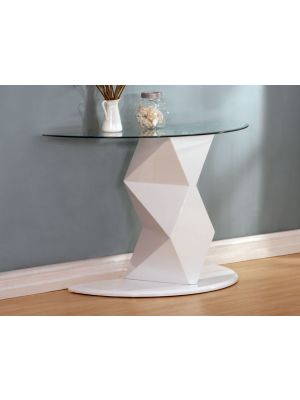 Rowley High Gloss White Console Table