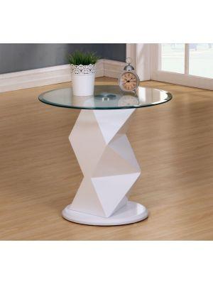Rowley High Gloss White Lamp Table