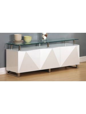 Rowley High Gloss White Large Sideboard