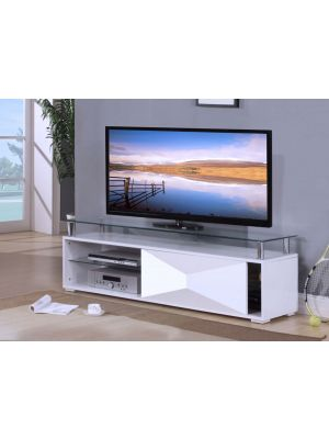 Rowley High Gloss White TV Stand