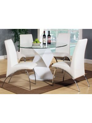 Rowley High Gloss White Dining Set