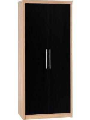 Seville Black 2 Door Wardrobe