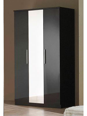 Topline High Gloss 3 Door Wardrobe