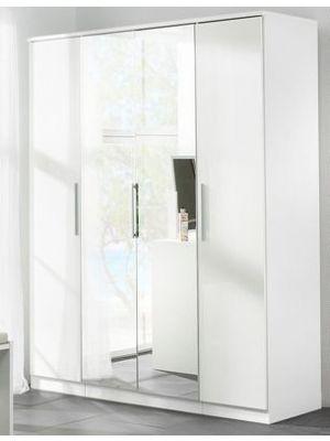 Topline High Gloss 4 Door Wardrobe