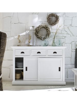Whitehaven Painted Buffet With 2 Sliding Doors