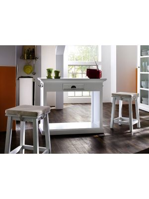 Whitehaven Painted Breakfast Table And 2 Stools