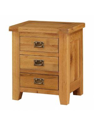 Acorn Solid Oak 3 Drawer Bedside Table