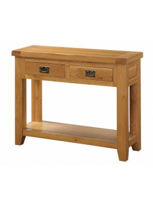 Acorn Solid Oak 2 Drawer Hall Table
