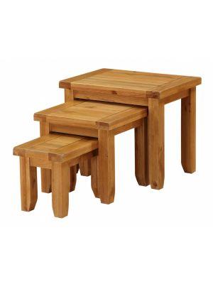 Acorn Solid Oak Nest of Tables